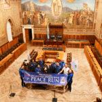 La Peace Run al Palazzo Pubblico di San Marino