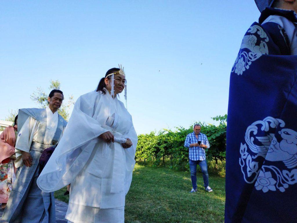 shinto priests for Nippon Matsuri 2019 ceremony at San Marino Jinja