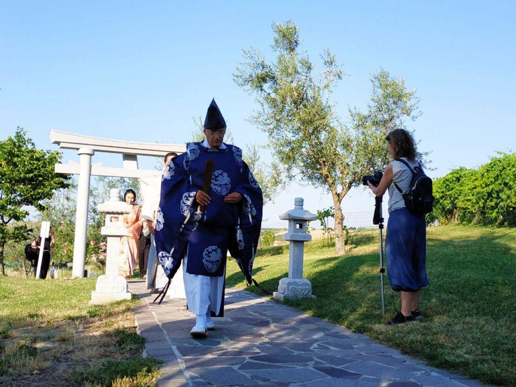 cerimony at San Marino Jinja during Nippon Matsuri 2019